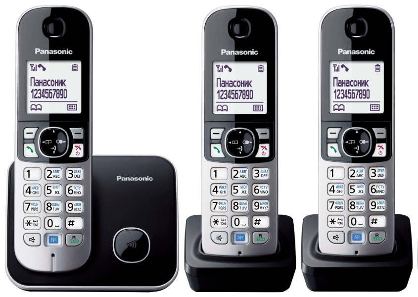 Радиотелефон PANASONIC KX-TG 6813 RUB чёрный