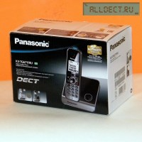 Радиотелефон PANASONIC KX-TG 6711 RUB чёрный