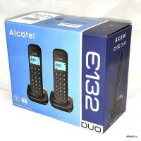 Радиотелефон Alcatel  E132 DUO чёрный