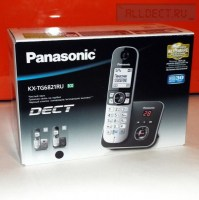 Радиотелефон PANASONIC KX-TG 6821 RUB чёрный