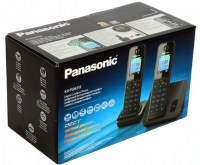 Радиотелефон PANASONIC KX-TGH 212 RUB чёрный