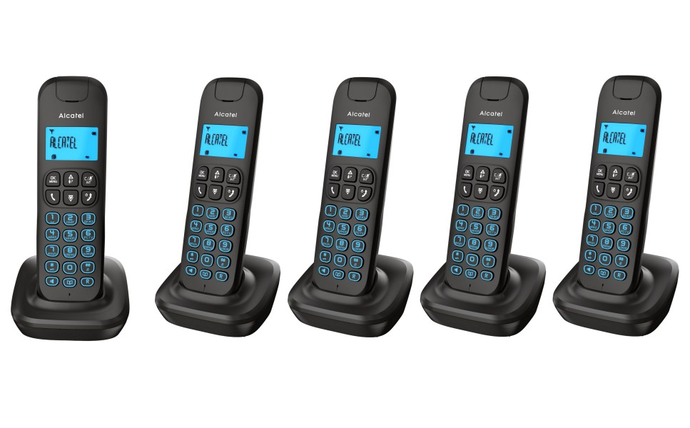 Alcatel E192 Quintet Black ( 5 трубок в комплекте )