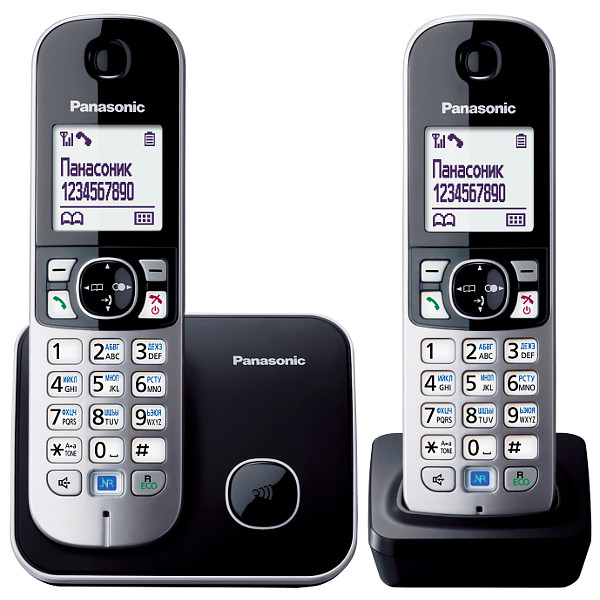 Радиотелефон PANASONIC KX-TG 6812 RUB чёрный