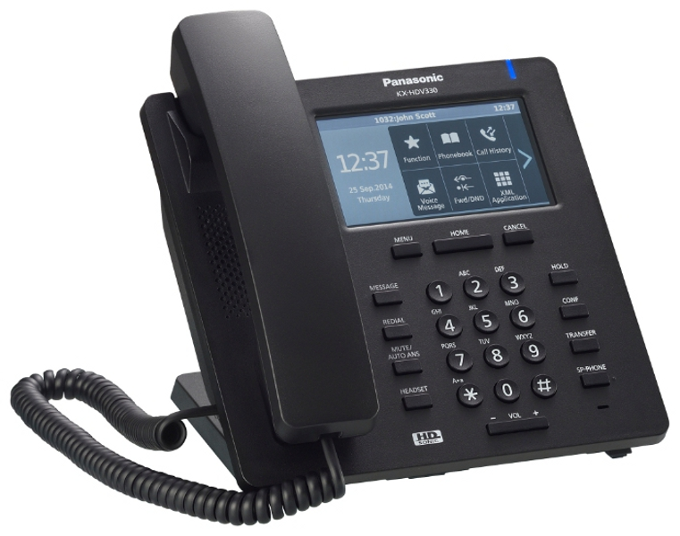 SIP-телефон Panasonic KX-HDV330RUB