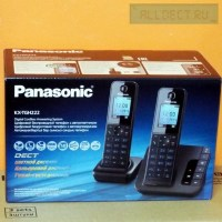 Радиотелефон PANASONIC KX-TGH 222 RUB чёрный